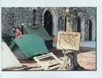 The first Krzyzewskiville tents