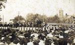 President Roosevelt speaking at Trinity