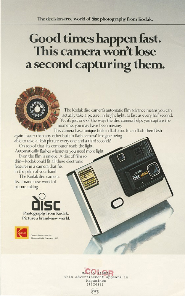 Launch of the Kodak Disc Camera, 1982