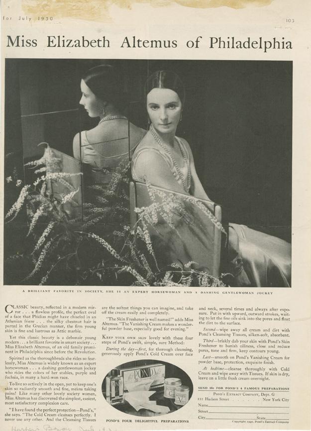 Pond's Method featuring photograph by Edward Steichen, 1930