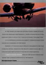 Allied Signal advertisement featuring civilian aircraft, circa 1990.