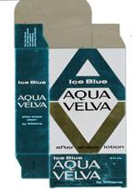 Award-winning Aqua Velva packaging.