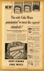 Aunt Jemima Cake Mixes, 1950s.