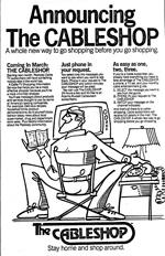 Announcement for Cable Shop, 1982.