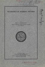 Statistics in Market Studies, 1924