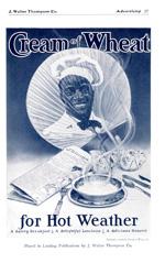 1906 Cream of Wheat advertisement featuring Rastus.