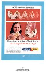 Scott Cut-Rite Plastic Bags, 1964.