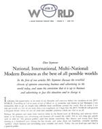 Article written by Dan Seymour in 1970.