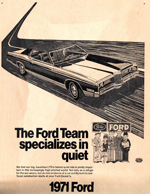Ford Dealer advertisement,1971. The logo of the Ford Dealer Advertising Fund may be seen on the lower right side of the advertisement.
