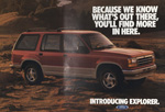 The Ford Explorer launched in 1990.