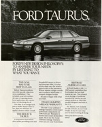 Ford Taurus, 1980s.