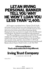 Irving Trust, 1976.