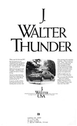 JWT House Ad featuring Ford, 1983.