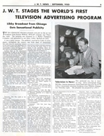 A landmark in both television broadcasting and advertising history, 1930.