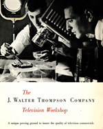 Television workshop, 1950s.