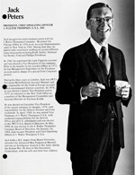 News article featuring Jack Peters, 1980s.