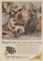 Kodak camera ad, 1950s.