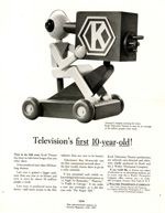 Print advertisement celebrating the 11th season of Kraft Theater television series.