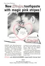 Stripe Toothpaste, 1958.