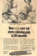 Mentholatum Heat Rub, 1950s.