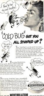 Mentholatum Nasal advertisement, 1940s.