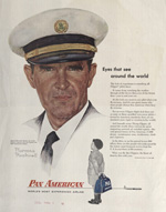 1950's advertisement with a drawing by Norman Rockwell.