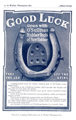 O'Sullivan Rubber Company advertisement from 1904.