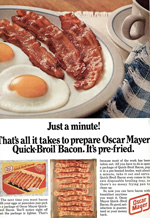Oscar Mayer bacon, 1970s.