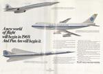 1967 advertisement featuring the fleet of Pan Am aircraft.
