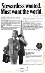 1967 Pan Am Stewardess ad.