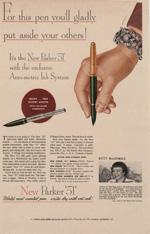 Parker Pen advertisement, 1951.