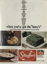 Stouffer Spinach, 1970s or 1980s.