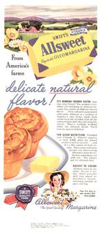 Swift's Allsweet Margarine, 1945.