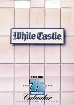 This 1996 White Castle calendar commemorates the company's 75th Anniversary.