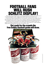 Schlitz parterned with the NFL for this 1981 campaign.
