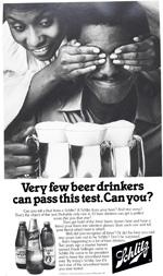 Schlitz Beer, 1980.