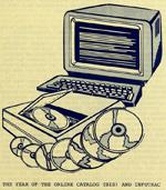 Duke University Library Newsletter drawing, October 1986.