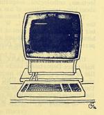 Duke University Library Newsletter drawing, April 1976.