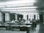Rear half of Divinity Library Reading Room, 1955.