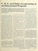 Duke Alumni Register article on Duke-UNC Cooperative, March 1935.