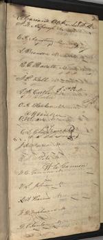 Circulation log of the Hesperian Society, 1854.