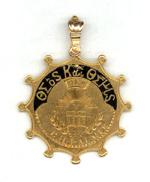 Hesperian medal signifying membership, 1875.