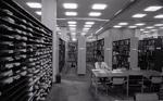Perkins Library book stacks, June 1983.